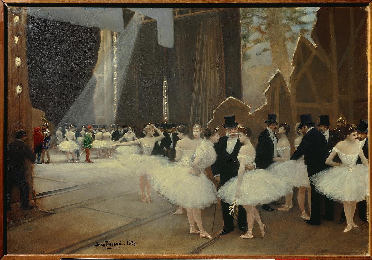 Jean Beraud (1849-1935): Az opera színfalai mögött 1889.