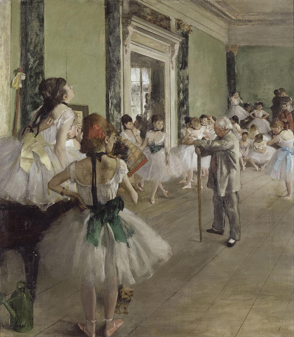 Edgar Degas: Balettosztály (1873–1876)