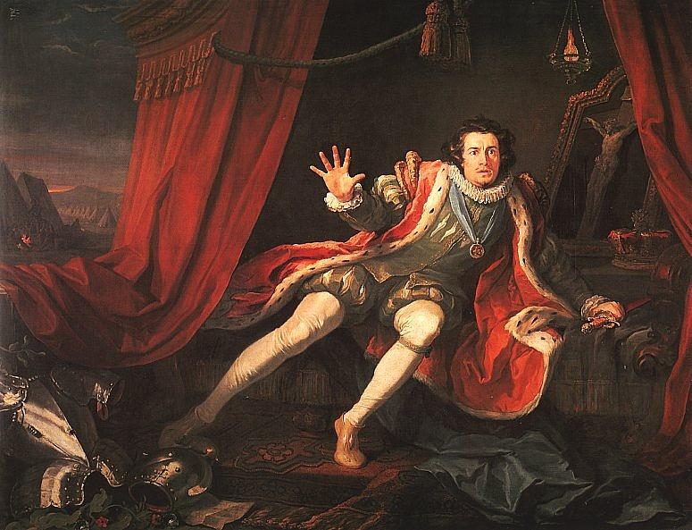 David Garrick III. Richárd szerepében, William Hogarth festménye, 1745