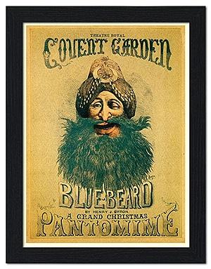 Egy Kékszakáll-pantomim plakátja a 17. századi Londonból