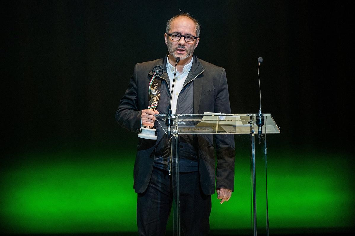 A legjobb játékfilmes férfi fõszereplõnek járó díjjal kitüntetett Rudolf Péter