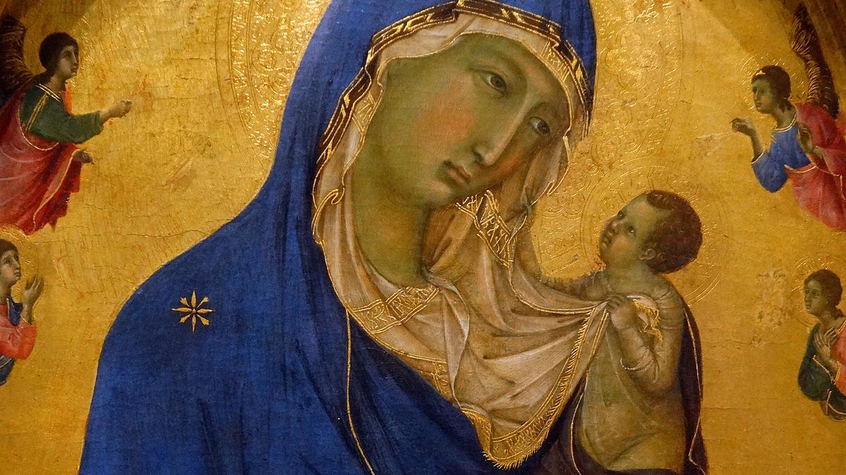 Duccio di Buoninsegna (1255-1319): A szűz a gyermekkel