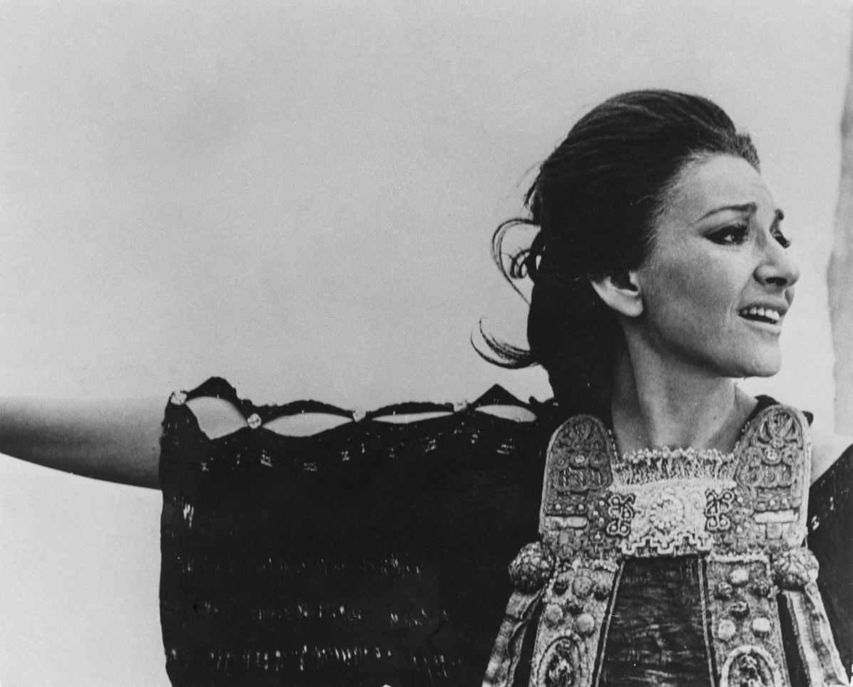 Maria Callas 1969-ben, Pasolini Medea című filmjének forgatásán