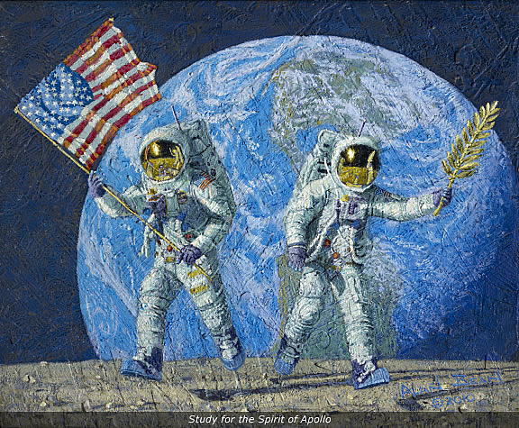 Alan Bean: Study For The Spirit Of Apollo (2010)